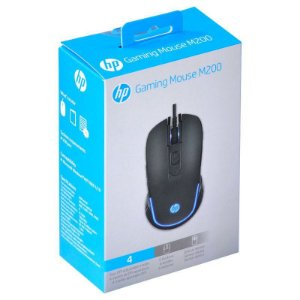Mouse HP Gamer - M200 Black - 1000 / 2400 Dpi