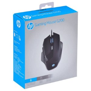 Mouse HP Gamer - G200 Black - Sensor Avago A3050 - 1000 / 4000 Dpi