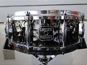 """Caixa Gretsch Hand Hammered Black Steel Finish 14x5,5"""""""