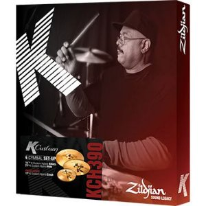 KIT DE PRATOS ZILDJIAN K CUSTOM HYBRID SERIES - KCH390 (14, 17, 21)