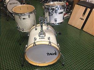 Bateria Taye Pro X  Jazz White Pearl Shell Pack