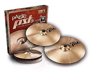 "Kit de Pratos Paiste 14""Sound Edge, 16"" Rock Crash, 20"" Rock Ride - Pst5 Rock"