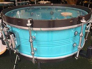 """Caixa CR Rústico Drum Metal Ocean Blue 14""""x5,5"""""""