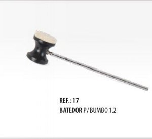 Batedor de Bumbo Dupla Face Feltro e Plástico Spanking 1.2