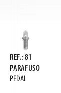 Parafuso para Pedal Spanking 6mm Pacote 3 unidade