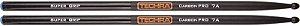 Baqueta Techra 7A Super Grip Carbon Pro Fibra de Carbono