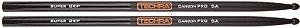 Baqueta Techra 5A Super Grip Carbon Pro Fibra de Carbono
