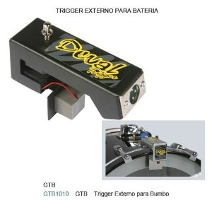 Trigger Deval de Bumbo GTB1010 para Cabeamento XLR