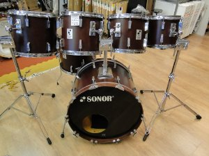 Bateria Sonor Performer, Made in Germany, Madeira Beech  Ano 1986