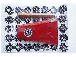 """Cowbell MP 8"""" C/ Batedor ( Hand Cowbell )  Vermelho MP-73"""