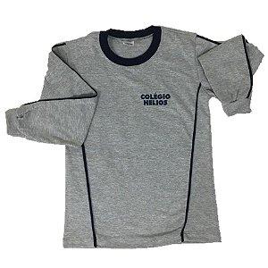 Camiseta Cinza Manga Longa