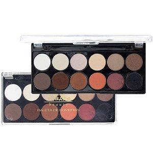 Paleta de Sombras com 12 cores 01 - Bitarra Beauty