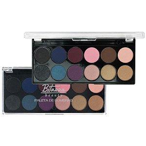 Paleta de Sombras com 12 Cores 02 - Bitarra Beauty