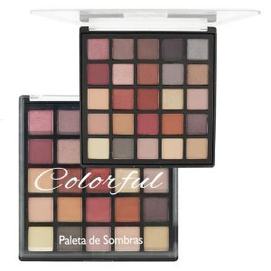 Paleta de Sombras 25 Cores Colorful - Luisance