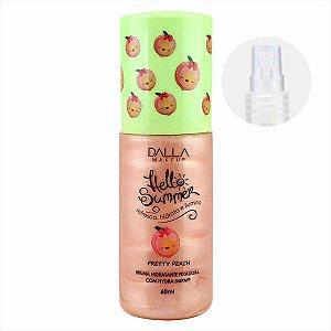 Bruma Hidratante Fixadora Hello Summer Pretty Peach - Dalla Makeup