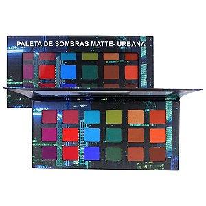 Paleta de Sombras Urbana 18 Cores Matte - Ludurana