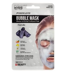 Máscara de Bolhas Purificante Carvão - Kiss NY