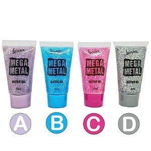 Glitter em Gel Mega Metal - Luisance