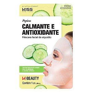 Máscara Facial Pepino Calmante e Antioxidante - Kiss NY