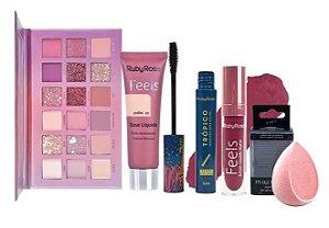 Kit de Maquiagem Ruby Rose com Esponja