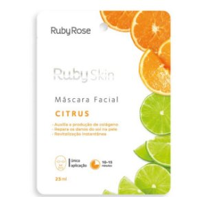 Máscara Facial de Tecido Citrus - Ruby Rose