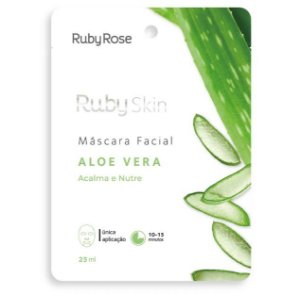 Máscara Facial de Tecido Aloe Vera - Ruby Rose