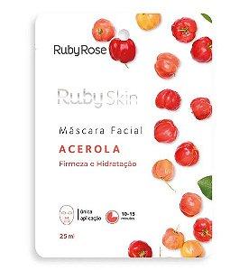 Máscara Facial de Tecido Acerola - Ruby Rose