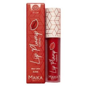 Gloss para Crescimento Labial Lip Plump Red - Maika Beauty