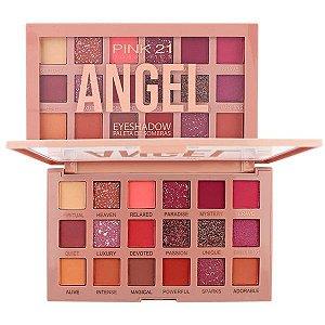 Paleta de Sombras Angel 18 Cores - Pink 21
