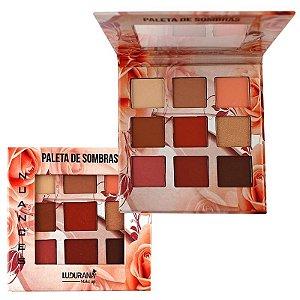 Paleta de Sombras 9 Cores Nuances Nude - Ludurana