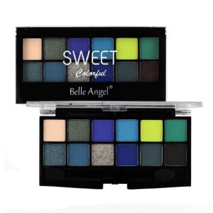 Paleta de Sombra 12 Cores Sweet Colorful Cor C - Belle Angel