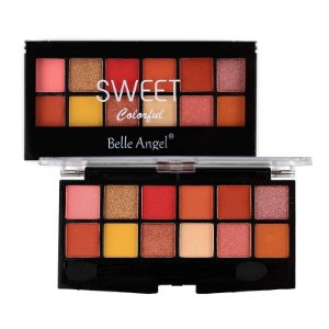 Paleta de Sombra 12 Cores Sweet Colorful Cor A - Belle Angel
