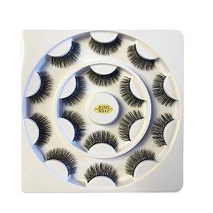 Caixa de Cílios Mink 5D com 8 Pares 17 - Ruby Anjo