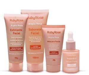 Kit Argila Rosa 4 Produtos - Ruby Rose