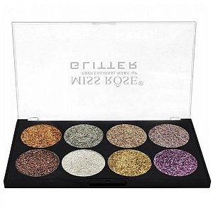 Miss Rose Paleta de Glitter 8 Cores Cor 02