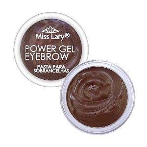 Power Gel Eyebrow Pasta para Sobrancelhas - Miss Lary