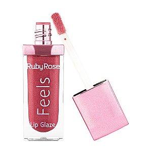 Gloss Feels Lip Glaze - Ruby Rose