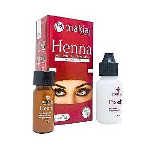 Henna para Design de Sobrancelha Castanho Escuro - Makiaj