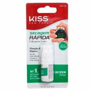 Cola para Unhas Artificiais Secagem Rápida 3g - Kiss NY
