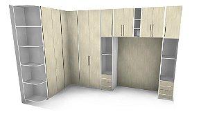 Dormitório com Cama Embutida Planejado Sob Medida - 100% MDF