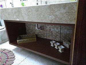 Nicho para Banheiro Planejado Sob Medida em MDF Cobre Corten da Arauco.