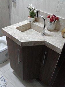 Armário de Banheiro Planejado Sob Medida 100% em MDF de 18 mm Masisa