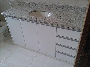 Banheiro Planejado Sob Medida em MDF Duratex Ultra Branco Diamante