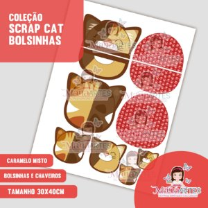 COLEÇÃO BOLSINHAS / CHAVEIROS CATS by MANÁ ARTES