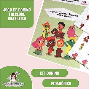 KIT FELTROS - JOGO de DOMINÓ FOLCLORE BRASILEIRO