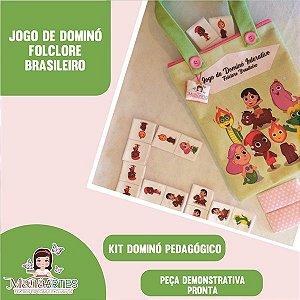 JOGO DE DOMINÓ - FOLCLORE BRASILEIRO (em Feltro)