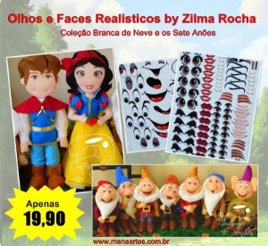 KIT OLHOS BRANCA DE NEVE by Zilma Rocha