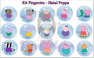 KIT PINGENTES - NATAL PEPPA