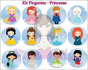 KIT PINGENTES - PRINCESAS
