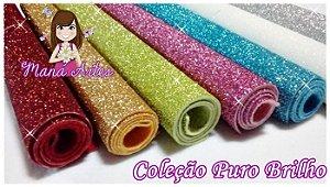 COLEÇÃO PURO BRILHO - FELTRO COM GLITTER